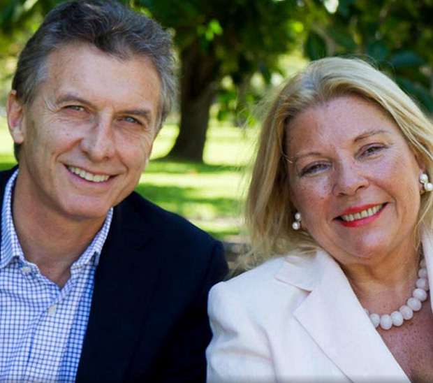 Macri y Carrio (Facebook)