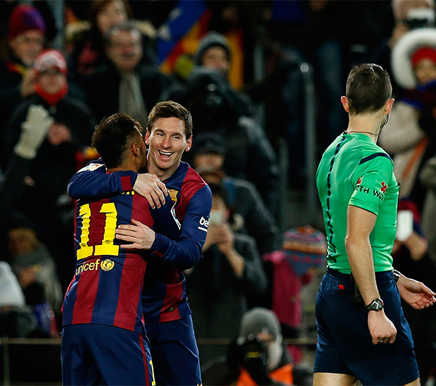 Gol de Messi en Barcelona (Reuters)