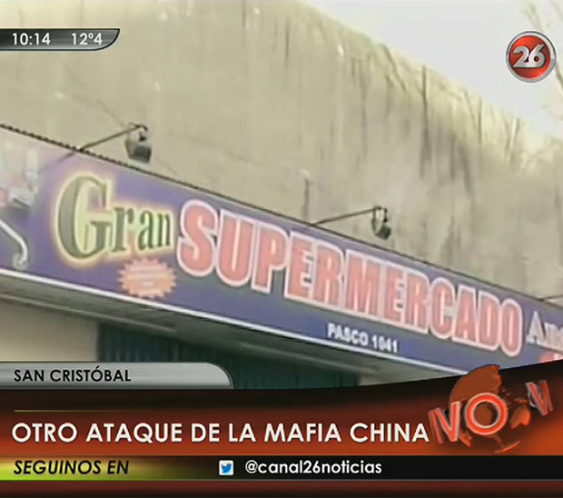 Ataque de la mafia China a supermercado