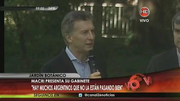 Macri presentó a su Gabinete: