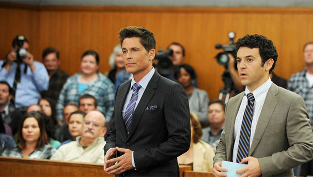 Rob Lowe y Fred Savage en The Grinder