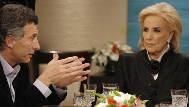 Macri con Mirtha Legrand
