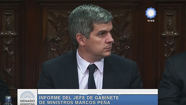 Peña brinda su informe mensual de gestión en el Senado