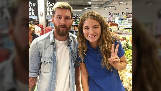 Se encontr� a Messi en el supermercado