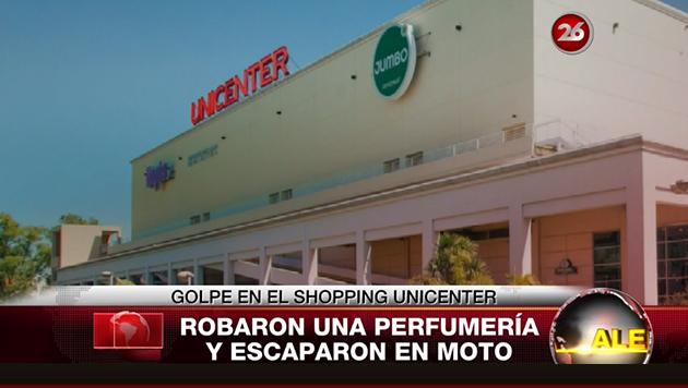 Unicenter: dos ladrones robaron $ 240.000 de una perfumería