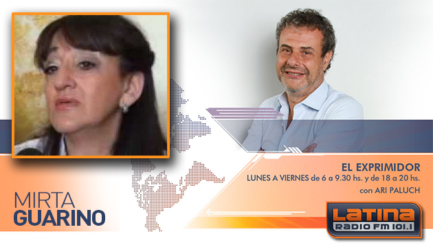Mirta Guarino en Radio Latina