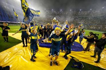 #YoTeBicampeon: una multitud y los jugadores de Boca, de fiesta en La Bombonera