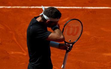 Del Potro cayó ante Lajovic y quedó afuera del Masters 1000 de Madrid