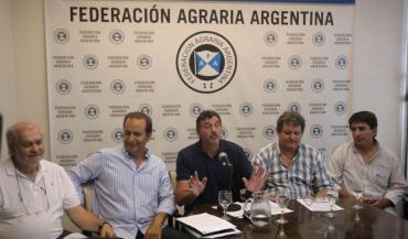 Federación Agraria Argentina advirtió