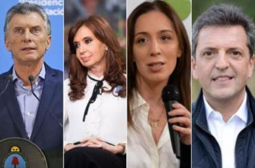 Elecciones 2019: Cristina, Vidal, Macri y Massa dominan la escena