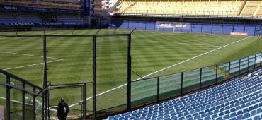 Alarma en la Selección, Angelici dijo que el césped de la Bombonera