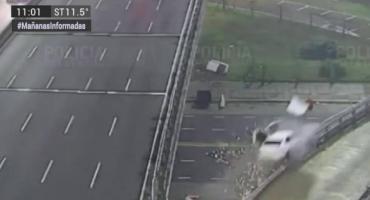 Video: así fue el accidente del auto que