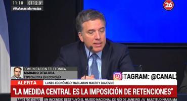 Mariano Otálora, tras los anuncios de Macri: