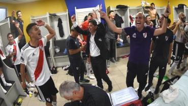 Así fue el eufórico festejo de River en la Bombonera tras ganar el Superclásico