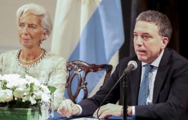 En medio de una nueva crisis cambiaria, Dujovne se reúne con Lagarde