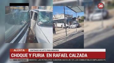 Choque y furia en Rafael Calzada