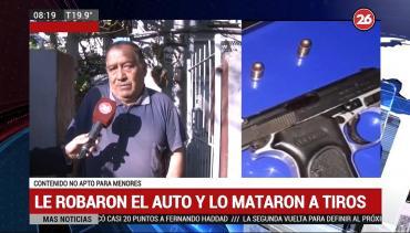 Le roban el auto y lo acribillan a balazos: dos menores detenidos