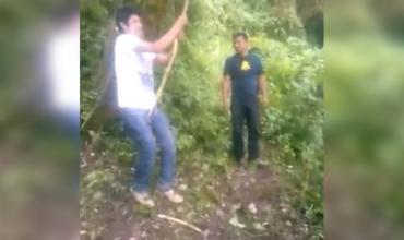 Facebook: intenta hacer el truco de Tarzán con la cuerda pero le sale mal