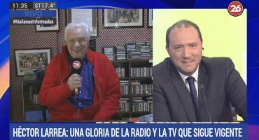 Héctor Larrea, gloria de radio y televisión en el programa 450 de