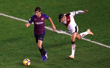 Barcelona lo ganó en el final en su visita al Rayo Vallecano y lo viviste por TeleCentro 4K