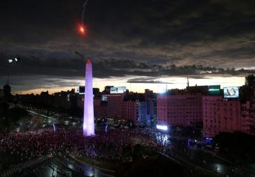 El Obelisco de rojo y blanco, los festejos de River Campeón de la Libertadores