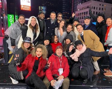 Lali Espósito recibió el 2019 haciendo historia y brilló en el Time Square