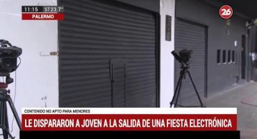 Baleado en Palermo: le dispararon a joven al salir de fiesta electrónica