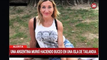 Tragedia en Tailandia: turista argentina murió haciendo excursión de buceo