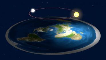 Quienes creen que la Tierra es plana, afirman que el eclipse lunar nunca sucedió