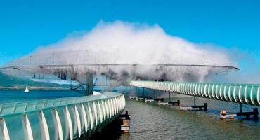 Mundial de Qatar: así es la nube artificial creada para combatir el intenso calor
