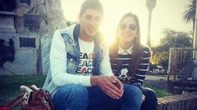 Emiliano Sala y su hermana Romina Sala
