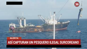 Prefectura capturó buque surcoreano que pescaba ilegalmente