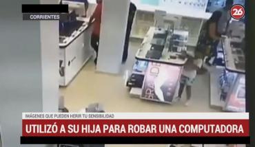 Indignante: madre usó a su hija de 6 años para robar una notebook