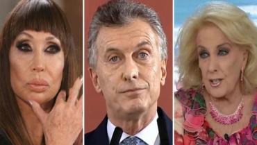 Duras críticas de Moria Casán a Mirtha Legrand por apoyar a Mauricio Macri