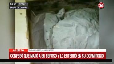 Horror en Lomas de Zamora: mató a su esposo y lo enterró en su dormitorio