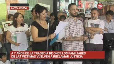 Familiares de víctimas vuelven a reclamar justicia a 7 años de la Tragedia de Once