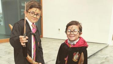 Thiago y Mateo, hijos de Messi y Antonela Roccuzzo, se vistieron de Harry Potter para Carnaval