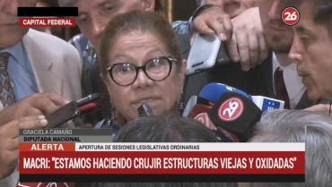 """Camaño, tras sesiones ordinarias: """"A Macri le quedó grande el cargo de presidente"""