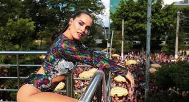 Lali Espósito brilló en el carnaval y mostró su sensual meneo a los brasileños