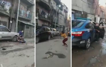 Para evitar una detención, vecinos de la Villa 20 arrojaron piedras a la Policía