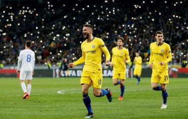 Chelsea goleó al Dinamo Kiev y pasó a Cuartos de la Europa League