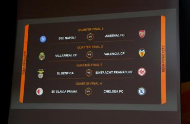 Sorteo de Europa League: Arsenal vs. Nápoli, el gran duelo de cuartos de final