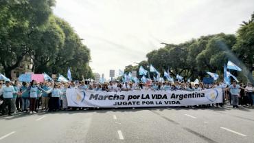 Agrupaciones provida marcharon por derogación del protocolo de Interrupción Legal del Embarazo