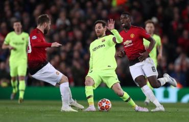 Gran triunfo del Barcelona de Messi ante Manchester United por Champions