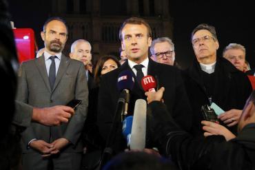 Macron quiere reconstruir Notre Dame