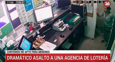 Dramático asalto a agencia de lotería: empleada se salvó de milagro