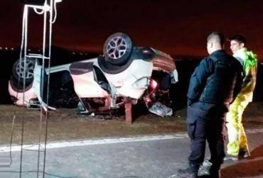 Tragedia en autopista Rosario - Córdoba: choque, vuelco y cinco muertos