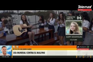#Diamundialcontraelbullying: Marty Domínguez, la Youtuber que cura heridas con su canción