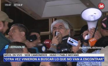 Hugo Moyano, tras allanamientos:
