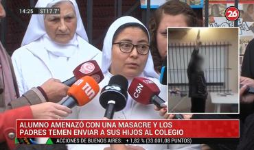 Alumno amenazó con masacre en video: